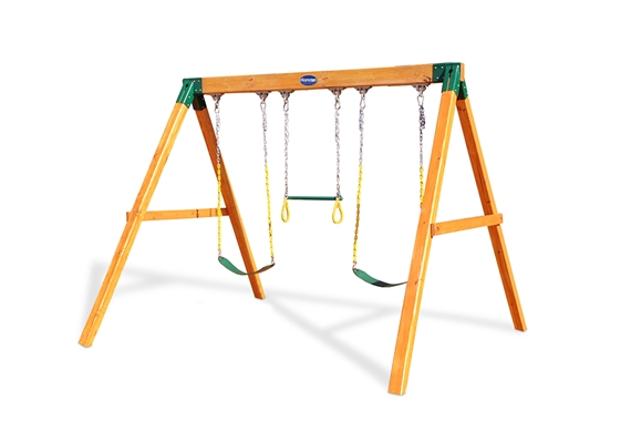 Horizon Duo Swing Set - Children's Wood Swing Sets and Accessories